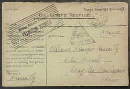 Enveloppe De Franchise Militaire Troupes Britanniques En France BEF Cachet MISSION MILITAIRE FRANCAISE > Issy Les Mx - Poststempel (Briefe)
