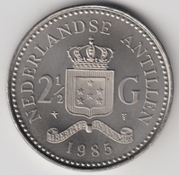 @Y@    Nederlandse Antillen  2 1/2  Gulden  Rijksdaalder  1985  ( 4742 ) - Nederlandse Antillen