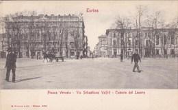 Torino, Piazza Venezia, Via Sebastiano Valfré, Camera Del Lavora (pk68146) - Zonder Classificatie