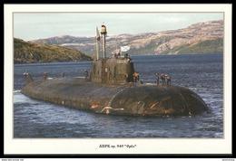 "RUSSIA POSTCARD 999 Mint SUBMARINE NUCLEAR 949 ""OREL"" ATOMIQUE NORTH NAVY NAVAL SOUS MARIN U BOOT ARCTIC ATOM POLAR 55 - Submarines"