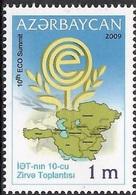 P104- Azerbaijan 2009. ECO. Economic Cooperation Organization. (PKR) - Iran