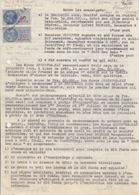 Convention (Acte De Commerce) Entre Brasserie Amos Et Café Des Amis Le 17/11/50, Timbres Fiscaux N° 156, 158 - Steuermarken