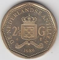 @Y@    Nederlandse Antillen  2 1/2  Gulden  Rijksdaalder  1989  ( 4743 ) - Antillen (Niederländische)
