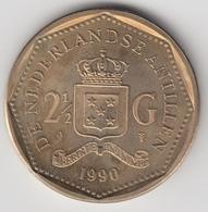 @Y@    Nederlandse Antillen  2 1/2  Gulden  Rijksdaalder  1990  ( 4744 ) - Antillen (Niederländische)