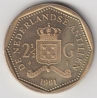 @Y@    Nederlandse Antillen  2 1/2  Gulden  Rijksdaalder  1991  ( 4745 ) - Nederlandse Antillen