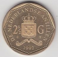 @Y@    Nederlandse Antillen  2 1/2  Gulden  Rijksdaalder  1992  ( 4746 ) - Antillen (Niederländische)