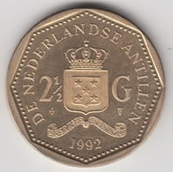 @Y@    Nederlandse Antillen  2 1/2  Gulden  Rijksdaalder  1992  ( 4746 ) - Nederlandse Antillen