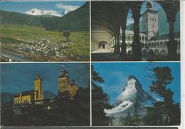 Carte Mosaïque. Le Mont Cervin/Matterhorn Et Le Stockalperschloss - VS Valais