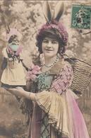 Amusante CPA FEMME  Oreilles LAPIN - Women