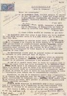 Convention (Acte De Commerce) Entre Brasserie Amos Et Café De Rombas Le 6/5/53, Timbres Fiscaux N° 165 - Fiscaux