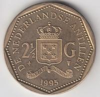@Y@    Nederlandse Antillen  2 1/2  Gulden  Rijksdaalder  1995  ( 4749 ) - Antillen (Niederländische)