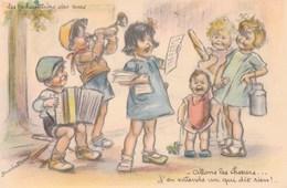 CPA - Germaine.Bouret -  Les Chanteurs Des Rues - Bouret, Germaine