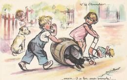 CPA - Germaine.Bouret -  Le Tonnelier - Bouret, Germaine
