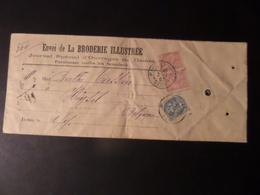 Enveloppe Envoi De La Broderie Illustrée, Type Blanc N°110 Et Type Mouchon N°117, Trajet Levallois Perret (FR)-Laeken BE - Frankreich