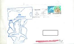 Lettre Flamme Paris Naval 50 Ans Service Postal + Sous-marin Saphir - Marcophilie (Lettres)