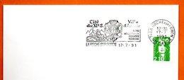 74 LA ROCHE SUR FORON   CITE DU XI° S.  1991 Lettre Entière N° MN 485 - Marcophilie (Lettres)