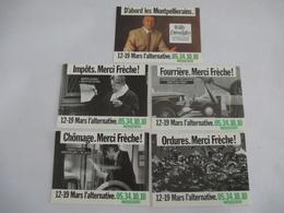 MONTPELLIER (34) : ELECTIONS MUNICIPALES Du 12 Et 19 MARS 1989 LOT De 5 Cpm Du Candidat D'opposition  - Voir 2 Scans - Montpellier
