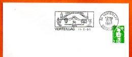 24 VETEILLAC  JUMELAGE CANTONAL  1991 Lettre Entière N° MN 486 - Marcophilie (Lettres)