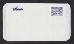 Czechoslovakia: Stationery Aerogramme, Stork Bird, Value Overprint, Overprinted, Uprated, Surcharged (minor Creases) - Tschechoslowakei/CSSR