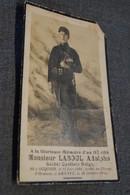 Guerre 14-18,poilus,glorieuse Mémoire D'un Héros,Laboul Adolphe,soldat Cycliste,Ocquier 1894,tué En 1918 - Esquela