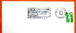 51 REIMS BOULINGRIN   L'ENSEIGNEMENT LAIQUE 1991 Lettre Entière N° MN 489 - Marcophilie (Lettres)