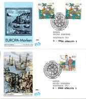 """BRD 2 Schmuck-FDC """"Europa: 500.Jahrestag Der Entdeckung Von Amerika"""" Mi. 2x 1608+1609 ESSt 7.5.1992 BONN 1 - [7] Federal Republic"""
