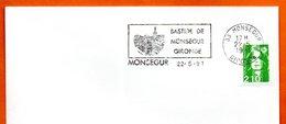 33 MONSEGUR    BASTIDE    1991 Lettre Entière N° MN 490 - Marcophilie (Lettres)