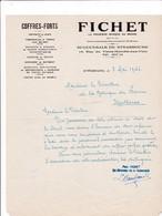 67-Fichet..Coffres-Forts..Strasbourg..(Bas-Rhin)...1946 - Autres