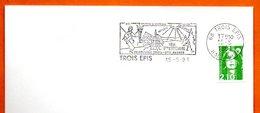 68 TROIS EPIS  PELERINAGE   1991 Lettre Entière N° MN 491 - Marcophilie (Lettres)