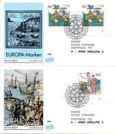 """BRD 2 Schmuck-FDC """"Europa: 500.Jahrestag Der Entdeckung Von Amerika"""" Mi. 2x 1608+1609 ESSt 7.5.1992 BERLIN 12 - [7] Federal Republic"""