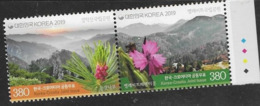 SOUTH KOREA, 2019, MNH, JOINT ISSUE WITH CROATIA, MOUNTAINS, FLOWERS, 2v - Emisiones Comunes