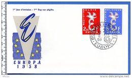Be0053 FDC Europa J1958 Bruxelles 13/09/58 - 1951-60