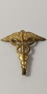 """Insignes Militaire: """"Insigne De Col - Officier Médical Des Armées"""" (Insigne Abimé) - """"ENGINEER REGIMENT """" - Medicina"""