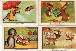 Lot De 4 Images D' école - Animaux *** - Alte Papiere