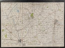 Militaire En Topografische Kaart UK War Office 1943 World War 2 WW2 Ieper Ypres Roeselare Zonnebeke Passendale Langemark - Mapas Topográficas