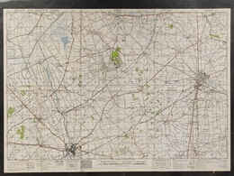 Militaire En Topografische Kaart UK War Office 1943 World War 2 WW2 Ieper Ypres Roeselare Zonnebeke Passendale Langemark - Cartes Topographiques