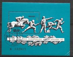 Russie   Bloc N° 119 Jeux Olympiques De Moscou Pentathlon Moderne      B /TB  Soldé    Le  Moins Cher Du Site  ! ! ! - Summer 1980: Moscow