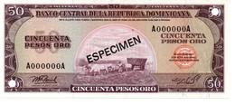 DOMINICAN REPUBLIC  ESPECIMEN 50 PESOS ORO ( 1976 ) - Dominicaine