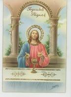 """PAQUES - Jolie Carte Fantaisie Avec Dorures Christ De """"Joyeuses Pâques """" Signée VENTURA - CECAMI 7292 - Pasqua"""