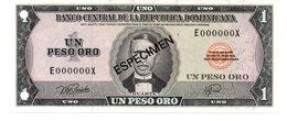 DOMINICAN REPUBLIC  ESPECIMEN 1 PESOS ORO ( 1976 ) - Dominicaine