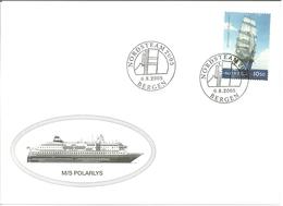 Norway 2005 Cover With Ship, M/S Polarlys, Nordsteam 2005 Bergen, - Norwegen