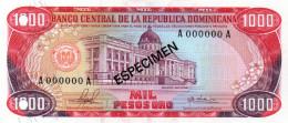 DOMINICAN REPUBLIC  ESPECIMEN 1000 PESOS ORO ( 1976 ) - Dominicaine