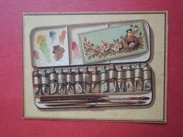 Rare Chromo.Testu-Massin. TM 43-2  Boite De Couleurs Gouache. Pinceaux. Dos: Programme Du Jardin Du Luxembourg - Unclassified