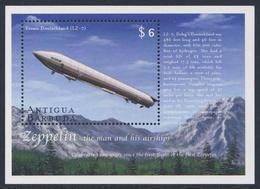 """Antigua & Barbuda 2000 B465 = Mi 3213 SG MS 3108 ** LZ-7 """"Deutschland"""" (1910) Cent. 1st Zeppelin Flight / Luftschiffe - Zeppelins"""