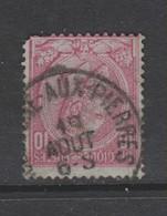 COB 46 Oblitération Centrale HOLLOGNE-AUX-PIERRES Avec Défaut - 1884-1891 Leopoldo II