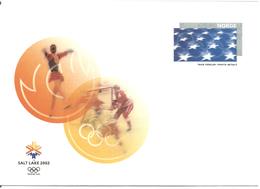 Norway 2002 Olympics Salt Lake City 2002    - With Imprinted Stamp Stars - Unused - Norwegen
