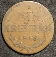 AUTRICHE - 1 KREUZER 1816 S - Francois I - KM 2113 - Autriche