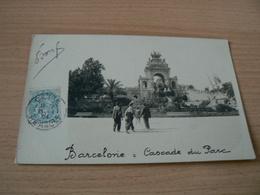 CARTE POSTALE /ESPAGNE /   BARCELONE CASCADE DU PARC  VOYAGEE - Spagna