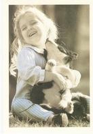 AN 1049,  MODERN FANTASY POSTCARD , CPM , DOGS , CHILDREN - Chiens