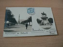 CARTE POSTALE /ESPAGNE /   BARCELONE  MONUMENT DE COLOMB  VOYAGEE - Spagna
